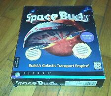 Space Bucks (PC, 1996, Sierra) w/Manual , Reference Card, CD for Windows 3.1