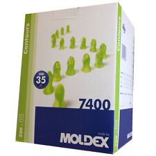 200 Pairs Of MOLDEX 7400 Disposable Uncorded Ear Plugs Soft Foam SNR 35dB