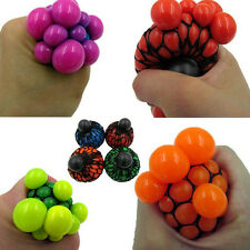 New Anti Stress Face Reliever Mesh Grape Ball Autism Mood Squeeze Relief Toys