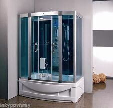 Steam Shower Enclosure with Whirlpool.Hydro Massage Jets Bluetooth.USA Warrant