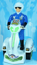 New Kids Police Super Motorbike Battery Operated Light Music 360° Spin Toy Gift