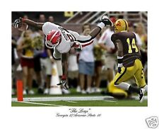 GEORGIA BULLDOGS FOOTBALL KNOWSHON MORENO S/N ART PRINT