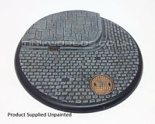 120mm Round Lipped Cobblestone Scenic Resin Base - Warmachine Colossal Bases