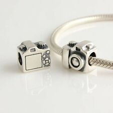 CAMERA 925 Sterling Silver Solid European Charm Bead for Bracelet