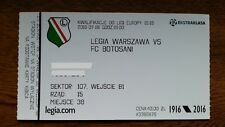Ticket LEGIA WARSAW - BOTOSANI FC 2015/16 Europa League Poland Romania Polska