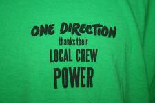 ONE DIRECTION 2014 Where We Are Concert Tour CREW ONLY T-SHIRT Green 1D XL Power