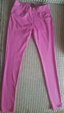 Womens/ girls hot  pink Skinny fit Stretchy jeggings/ Trousers Jeans Size12