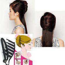 Mode Femme Barrette Épingle Pince Cheveux Peigne Coiffure Twist Chignon Mariage