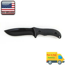 Schrade SCHF10 Drop-Point Full Tang Fixed Blade Survival Knife, Black, w/ Sheath