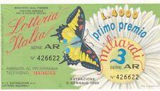 Biglietto lotteria Italia del 1989