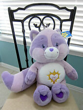 "NWT Care Bear Cousins Bright Heart Raccoon Jumbo 22"" Plush Toy Series 2 #6 2004"