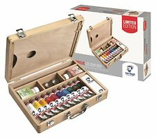 Van Gogh Acrylic Colour Wooden Box Set Artists Paints Mediums & Brushes