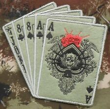 DEAD MAN HAND ACES & 8'S NAVY SEAL SPECIAL WARFARE OPERATOR FOREST VELCRO PATCH
