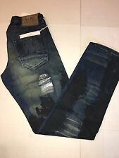 PRPS Regular Fit Straight Leg Indigo Smeared Paint Jeans Size 30/33 (300$)
