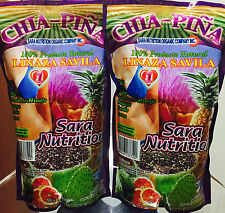 2 Pieza Pack Chia Pineapple Linaza Flax Seed Sara Nutrition Colon Cleanse 14oz