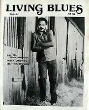 LIVING BLUES MAGAZINE #53 (1982) Z.Z. HILL, ROBERT JOHNSON, LIGHTNIN' HOPKINS