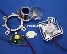 44mm Lens kit + 10W Cool White LED + 85-265v 10Watt Driver + 10w Heatsink DIY
