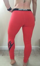 "NWT Women's NIKE ""JUST DO IT"" Logo Legging Organic Cotton Sz. Medium"