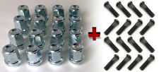 Set of 16 M12 x 1.5 19mm Hex Car wheel nuts and + standard Studs for Ford Cars