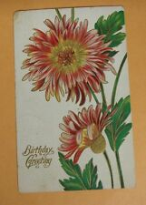 Vintage antique postcard  embossed  Birthday Greeting 1 cent stamp ZIM 191???