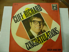 "CLIFF RICHARD""CONGRATULATIONS-disco 45 giri COLUMBIA Italy 1968 "" RARO"