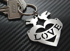 TATTOO LOVE Tatoo Heart Tatt Ink Body Art Valentine Keyring Keychain Key Gift