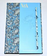 V&A, FOR M&S, HARDBACKED NOTEBOOK AND PENCIL. HORN POPPY BY MARY MORRIS, WILLIAM