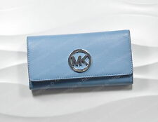 MICHAEL Michael Kors Wallet FULTON Carry All SKY Blue 32F2SFTE3L Clutch Leather