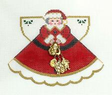 SP.ORDER ~ Santa Christmas Angel handpainted Needlepoint Ornament Painted Pony