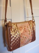 NWOT Lifestyle By Sharif Rose Gold Leather Cross body purse