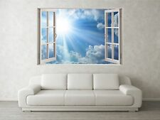 Sunbreak Scene 3D Full Colour Window Home Wall Art Stickers Mural Decal