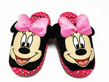 Minnie Mouse Polka Dots Pink Slippers NWT US 5-9 (UK 3-7, EU 34-40) #004