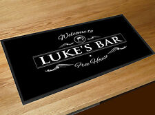 Personalised with your name Welcome Beer Label Bar runner Pubs & Clubs