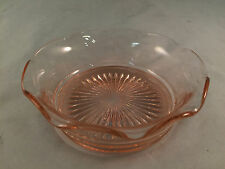 "Pink Depression Glass Bowl 5"" Diameter 1-3/4"" Depth"