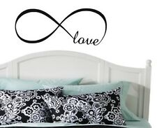 """LOVE INFINITY  Wall Lettering Words Decal Vinyl Quote Sticker Decor Design 24"""""""