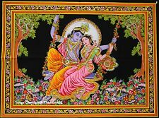 Radha Krishan Kisan Tapestry Kisna Throw Wall Hanging Poster indian hippy hippie