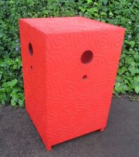 """ANDREW LAKEY RARE GIANT 38"""" MODERN MEDITATION BOX RED TOWER ABSTRACT SCULPTURE"""