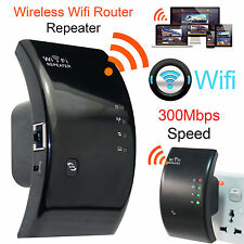 Black 300Mbps N 802.11 AP Wireless Wifi Repeater Router Range Extender Booster
