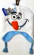 Disney Frozen Olaf Snowman Embroidered Critter Knit Hat Beanie Laplander 3D Nose