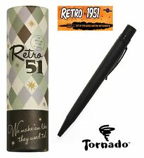 Retro 51  #VRR-1701 / Black Stealth Tornado Roller Ball Pen