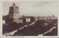 Argentina Buenos Aires Paseo Colon Gardens circa 1950 real photo unused postcard