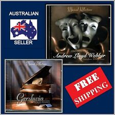 Set of 2, Gershwin Solo Piano, Andrew Lloyd Webber Music CD's, Instrumental ,NEW