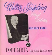 Walter Gieseking(Vinyl LP)Preludes Book 1-Columbia-33CX 1098-UK-VG/VG