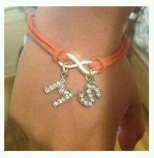 Orange Ribbon Awareness Rhinestone Bracelet Jewelry MS Multiple Sclerosis Cancer