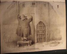 """1834 LOUIS PHILIPPE CARICATURE DE BENJAMIN ROUBAUD """" La porte de l´enfer """""""