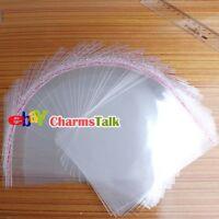 500Stk Selbstklebend Folienbeutel Plastiktütchen Transparent Verpackung