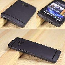 Ultra Thin For HTC ONE M7 Case Matte TPU Protect Cover + LCD Screen Protector