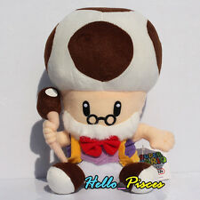 "Super Mario Bro. 10"" Toadsworth SOFT Plush Mushroom Grandpa Toy Doll Xmas Gift"