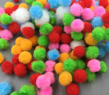 200 Quality Fluffy Craft PomPoms Balls Mixed Colours Pom Poms About 10mm
