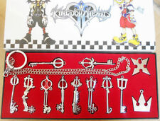 Set 12 pezzi collane Keyblade Kingdom Hearts Necklace Sora Roxas Final Fantasy